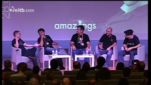 Mesa de debate sobre Inteligencia Artificial en Amazings Bilbao 2012. Clic en la imagen para acceder al vídeo.