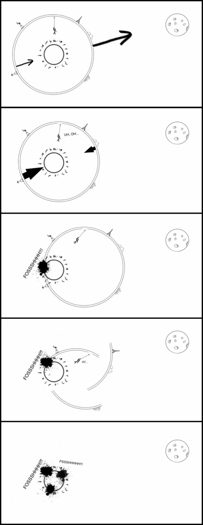 Tierra hueca con Luna